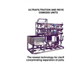 Ultrafiltration and Reverse Osmosis Units - Brochure