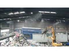 Dust Suppression In Waste Recycling Centre