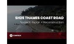 SH25 - Thames Coast Road Repair Video