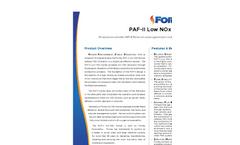 Model PAF II - Low NOx Burners Brochure