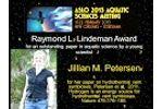 ASLO 2013 Lindeman Award to Jillian Petersen Video