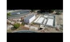 MITA Cloth Filters in Cuma WWTP from the Drone - Video