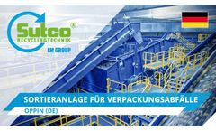 Sorting plant for packaging waste. Oppin. Sutco®