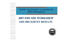 NAEM Survey Results – EMIS in use in 2007