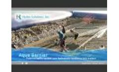 Hydro Solutions, Inc. - Aqua-Barrier Video