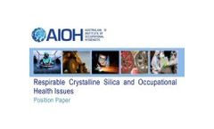 AIOH Position Paper Respirable Crystalline Silica (RCS)