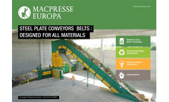 Steel Plate Conveyors Belts : Designed For All Materials - Brochure