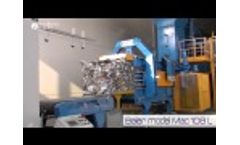 RDF Waste Automatic Baler MAC 108L1: Baling and Wrapping RDF/SRF Waste in Retura Plant, Norway Video