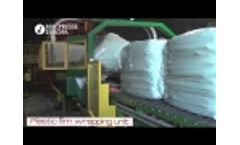 RDF Waste Automatic Baler MAC 111L: RDF/SRF Baling, Poly Tie, Plastic Film Wrapping of Waste in UK Video