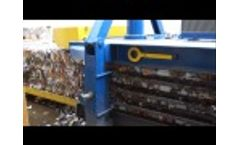 Old Corrugated Cardboard (OCC) and Mix Paper Baling With MAC 106, In VWZ Plant Video