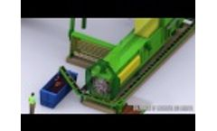 Municipal Solid Waste Dewatering With MAC 112 Baler by Macpresse Video