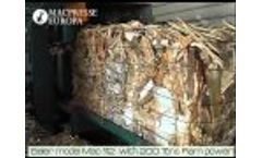 Wood Chips and Wood Pallets Baling With a Macpresse Baler Video