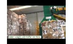 Old Corrugated Cardboard (OCC) and Plastic Film Baling With MAC 111 Mauri Plant Video