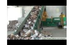 Old Corrugated Cardboard (OCC) and Mix Plastic Baling With MAC 111, Casagrande Plant Video