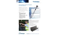 Primayer PrimeProbe3+ Rugged Insertion Flowmeter for Water Networks - Datasheet