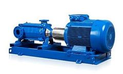 Masdaf - Model OMK - Horizontal Axis, Radially Split, Ring Section Design Multistage Centrifugal Pump