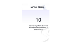10 reasons why Matrix Business Management Systems are a smart choice