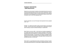 Contract Laboratories Services Brochure