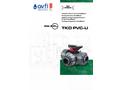 Model FTKD - FIP UPVC Industrial 3 Way Ball Valve - Brochure
