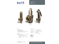 Model SRV - L - Bronze Safety Relief Valve with Manual Lever - Brochure