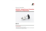 STS - Model ATM.ECO - Analog Pressure Transmitter with Temperature Compensation - Datasheet