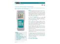 TEGAM - Model 911/912B - Dual Channel Handheld Digital Thermometer - Datasheet