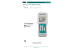 TEGAM - Model 911B, 912B - Thermocouple Thermometers - Manual