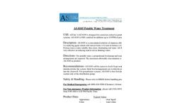 AS Inc - Model AS-8105 - Potable Water Treatment Unit - Brochure
