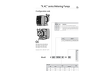 K AC Series Metering Pumps Datasheet