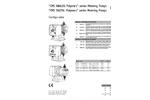CMS Analog Polymers Series Metering Pumps Datasheet