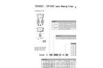 DPHRHD - DPHRHS Series Metering Pumps Datasheet