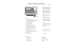 Model MAX5 - Multiple Reading and Multiparameter Digital System Brochure