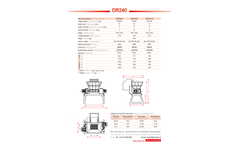 Model DR240 Series - Twin-Shaft Shredders Brochure