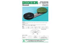 Didier - Membrane Disc Diffuser - Datasheet