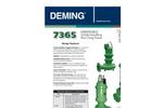 Deming - Non- Clog Vertical Column Sump Pumps Brochure