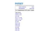 Barnes - Effluent Pumps  Brochure