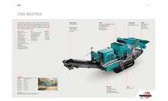 Maxtrak - Model 1300 - Cone Crusher Brochure