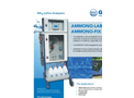 AMMONO - Model LAB / FIX - NH4 Online Analysers- Brochure