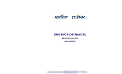 RocTest - Model ANCLO - Anchor Load Cell - Manual