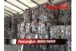 REDWAVE - Sorting dry recyclables (MRF) - Video
