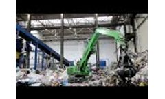 SENNEBOGEN 818 E Mobile Electric Material Handler - Waste Management at OZO, Czech Republic Video