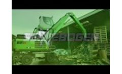 SENNEBOGEN 821 Mobile - Indoor and Outdoor Recycling Application at Menshen GmbH in Germany Video
