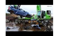 SENNEBOGEN 825 E Mobile - Vehicle Recycling With Powerhand At Autoverwertung Neumann, Germany Video