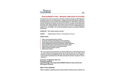 Doing Business in China - EHS Regulations Course Agenda Brochure