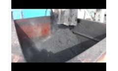 VacuDry typical oily waste input 2 - Video
