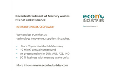 Decentral treatment of mercury wastes - It's not rocket science!