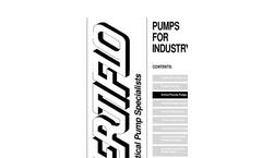 Model Series 900 - Industrial Vertical Immersion Vortex Sump Pumps Brochure