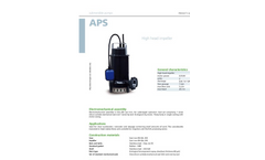 Zenit - APS - High Head Impeller for Submersible Pump Datasheet
