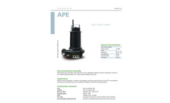 Zenit - APE - High Head Impeller for Submersible Pump Datasheet