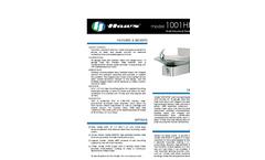 Model 1001HPSBP BarrierFree Drinking Fountain Spec Sheet